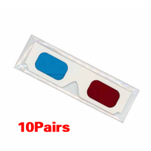 ETC-10 Pairs of Red/Cyan Cardboard 3D Glasses
