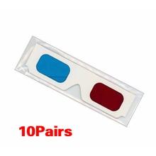 ETC-10 Pairs of Red/Cyan Cardboard 3D Glasses