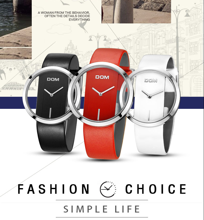DOM: Reloj de pulsera de lujo para mujer 2