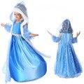 1pcs Retail  Elsa Anna girls Dress Toddler Tutu Layered Princess Party dress Kids Formal Dress girls clothing