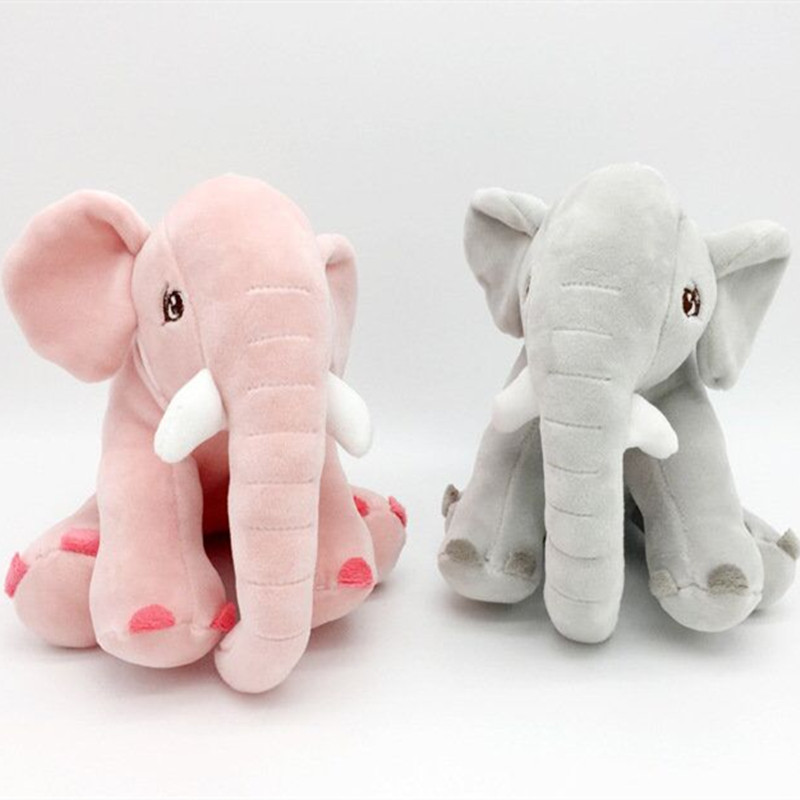 Elephant Doll Plush Toy Feather Cotton Filled Baby Puff Pillow Baby Room Ornament Pillow