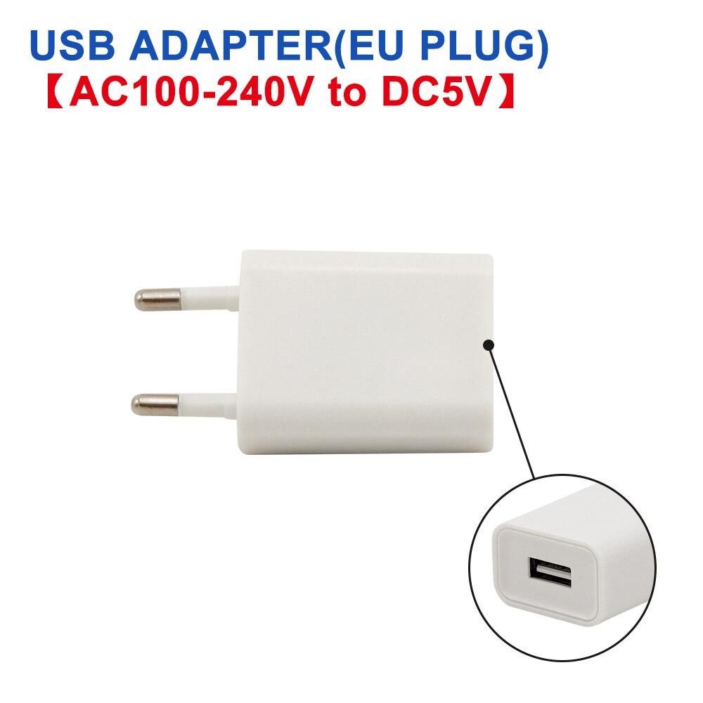 DC 5 В Мини светодиодный Ночной светильник, портативный 10 светодиодный s 24 светодиодный s USB настольная лампа для чтения, сгибаемый удлинитель, адаптер для США, книжный светильник s - Испускаемый цвет: Adapter (EU)
