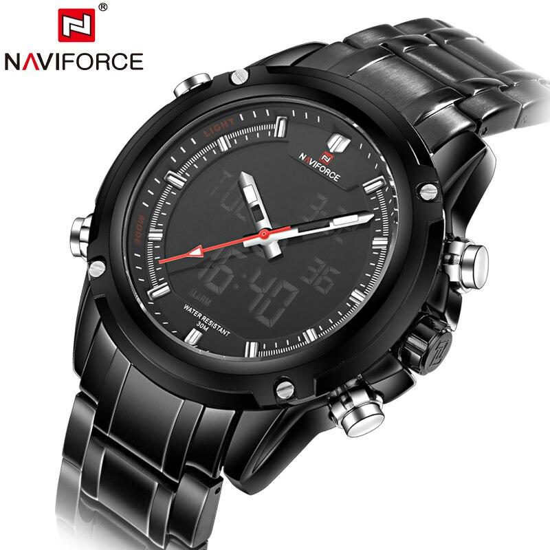 Full Steel Men Sports Watches Men's Quartz Digital Army Military Multi-Function Clock Male Waterproof Relogio