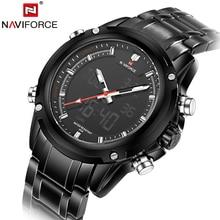 Luxury Top Brand Full Steel Men Sports Watches Men's Quartz Digital Army Military Multi-function Clock Male Waterproof Relogio