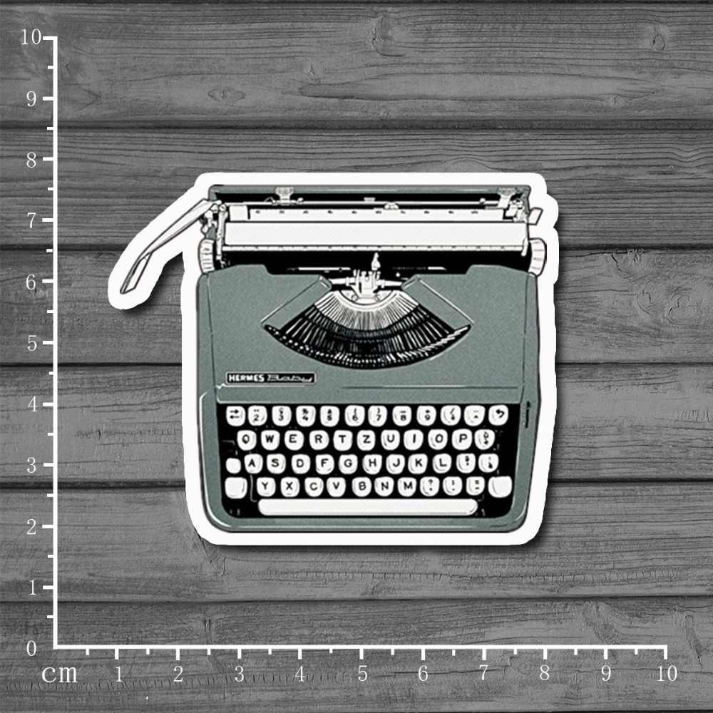 Impressora de máquina de escrever Retro Adesivos À Prova D' Água No Caderno Estilo Do Carro Laptop Adesivos Carro Styling Decal Frigorífico Skate [Simples]