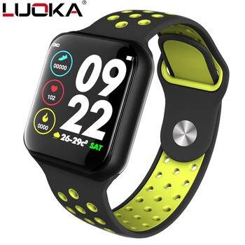 Inteligentny zegarek sportowy LUOKA F8 IP67 wodoodporny 15 dni długi czas czuwania tętno ciśnienie krwi Smartwatch wsparcie IOS Android PK s226