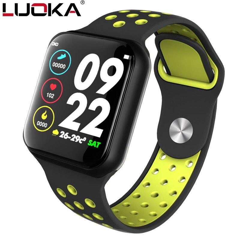 Luoka f8 esporte relógio inteligente ip67 à prova dip67 água 15 dias de longa espera freqüência cardíaca pressão arterial smartwatch suporte ios android pk s226