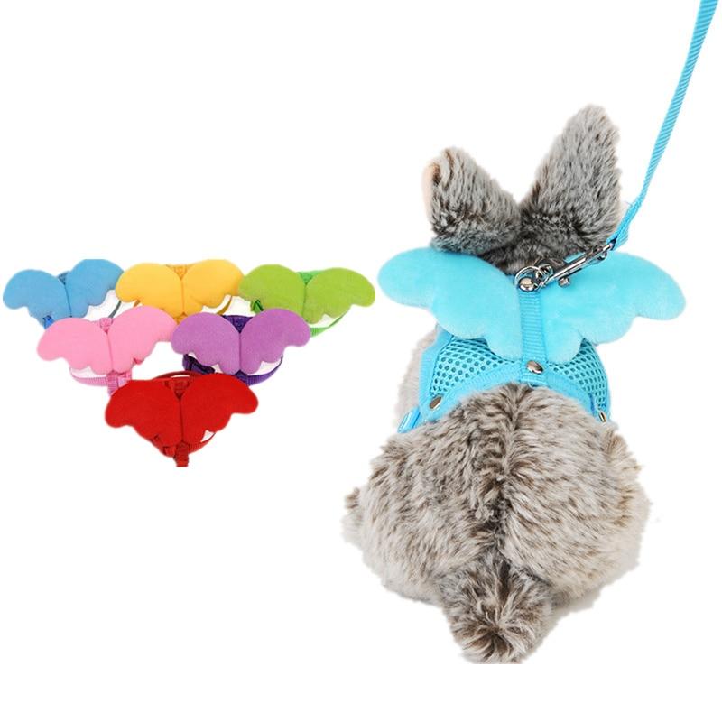 Lovely Hamster Rabbit Harness And Leash Set Ferret Guinea Pig Rat Small Animal Pet Walk Harnesses Leades
