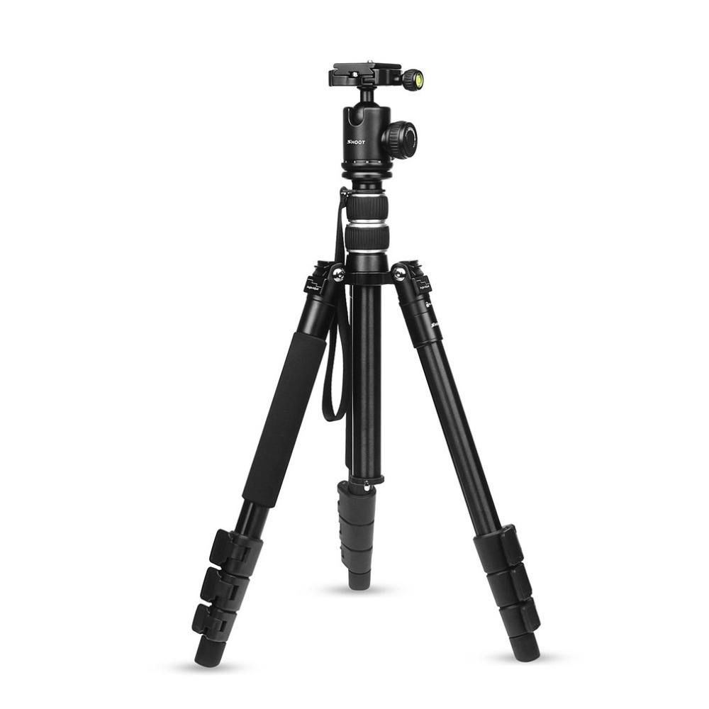 SHOOT XTGP438 Aluminum Alloy 4-Sections Camera Tripod for DSLR Stand With Ball Head 10kg Max Load 1.4 Max Height цена и фото
