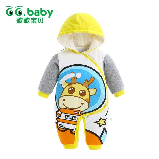 cec073d5107d 2017 Outwear Newborn Hooded Winter Baby Rompers Baby Boy Romper Long ...