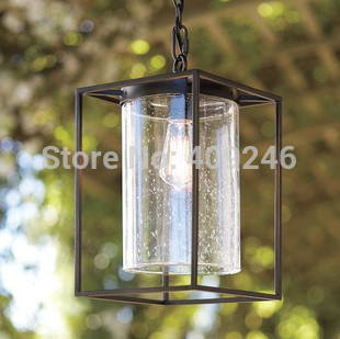 American Industrial Vintage Retro Bubble Iron Glass Edison Ceiling Pendant Lamp With Chain Cafe Bar Store Coffee Shop Club 32cm vintage iron pendant light metal edison 3 light lighting fixture droplight cafe bar coffee shop hall store club