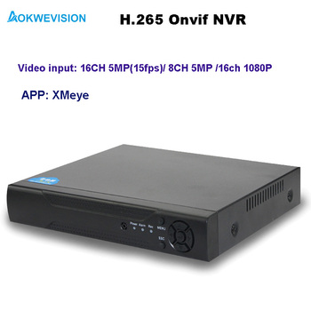 New arrival XMeye Onvif H.264/265 8ch 5MP / 16ch 5MP NVR network video recorder for IP camera with HDMI output