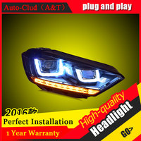 Auto Clud Car Styling For VW Sportsvan Headlights 2016 For Sportsvan Head Lamp Led DRL Front