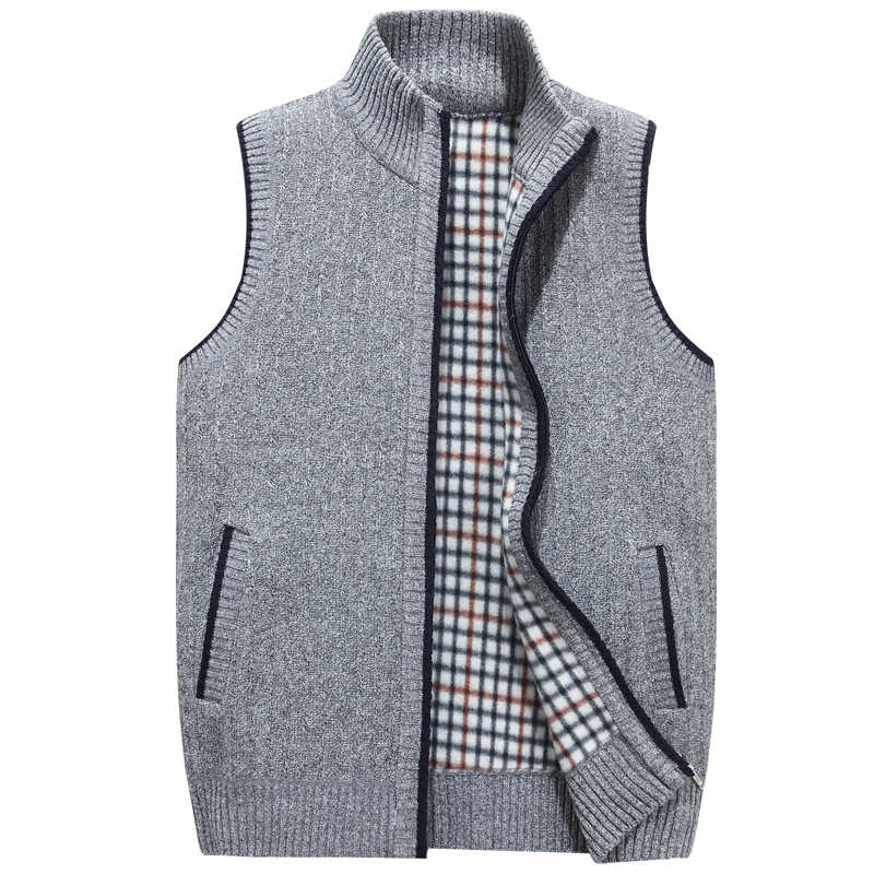 Mu Yuan Yang трикотажная одежда мужские жилеты без рукавов 50% Off мужские жилеты однотонные теплые жилеты на молнии пальто XXL XXXL