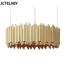 2017 new led luxury hotels sitting room light villa clubhouse double entry building pendant lamp Can be customized