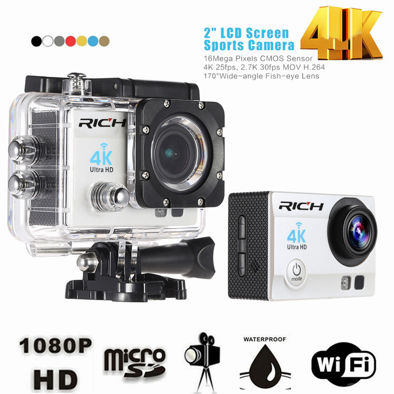 "Andoer Q3H 2"" Ultra-HD LCD 4K 25FPS 1080P 60FPS Wifi Cam FPV Video Output 16MP Action Camera"