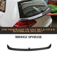 Carbon Fiber Rear Middle Trunk Spoiler Tail Lip Wing For Volkswagen VW Golf VII 7 MK7 2014 2015 2016 2017 GTI R R Line Standard