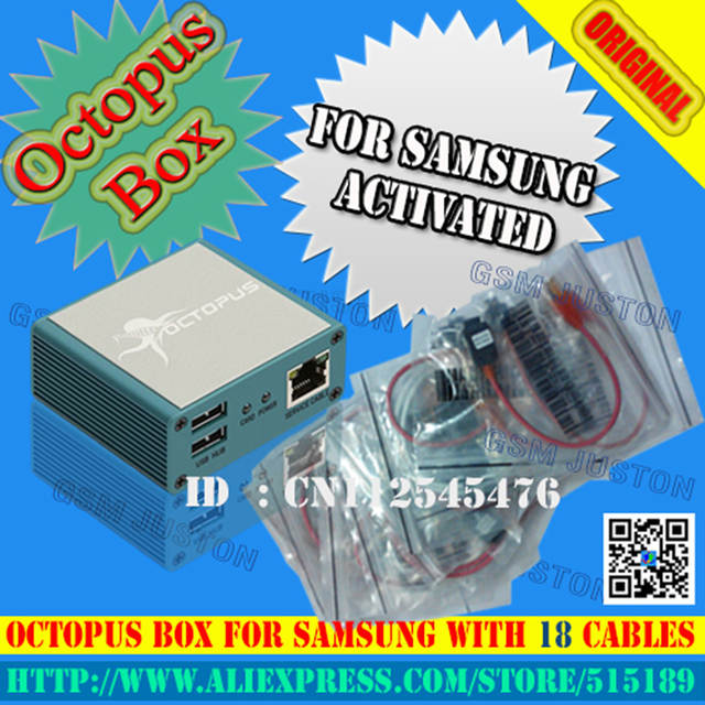 US $139 9 | latest version Octopus box for Samsung Flash Read/Write GDFS  IMEI Repair EFS Network for S5 (Packge With 18 cable)-in Telecom Parts from