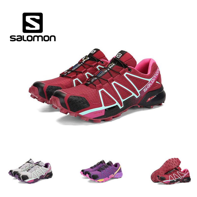 2018 Salomon Speed Cross 4 Free Run Salomon Mountaineering running Shoes for Woman Outdoor shoe 36-41 3 COLORS шапка salomon salomon free желтый