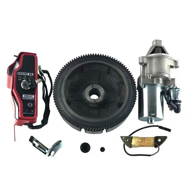 5KW ELECTRIC START KIT FOR HONDA GX340 GX390 E*5500 6500 6.5KW GENERATOR STARTER MOTOR KEY SWITCH BOX FLYWHEEL CHARGING COIL