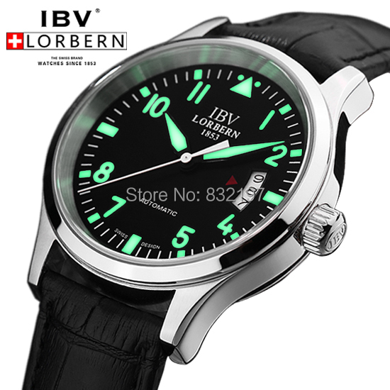aliexpress com buy shipping ibv pilots mens watch luminous shipping ibv pilots mens watch luminous submersible table army watch waterproof male watch automatic mechanical