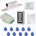 Metal 125KHz Keypad Access Control System Kit Electric Lock+Power Supply Control+Doorbell+Exit Button+10 pcs RFID Cards F9501D