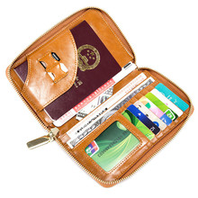 Real Leather Passport Cover Clip Ticket Holder Ultra Thin Document Credit Card Holder Travel Certificates Package Banknote Clip