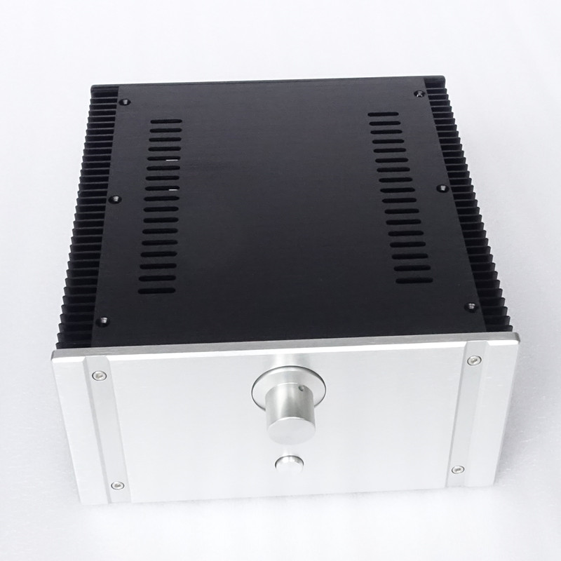 2412C Full aluminum Power amplifier chassis Class A case AMP Enclosure Audio box nobsound hi end audio noise power filter ac line conditioner power purifier universal sockets full aluminum chassis