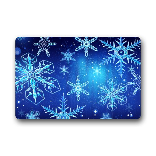 Beautiful Snowflakes Art Pattern Christmas Gift Door Mat Doormat Rugs for Home/Office/Bedroom