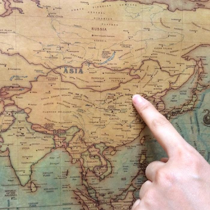 Large Paper World Map.Vintage Big World Map Nautical Map Kraft Paper Paint Retro Wall