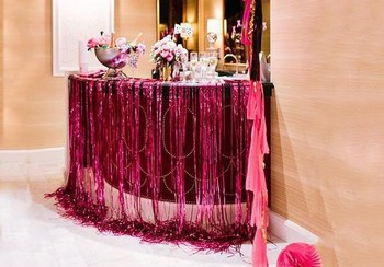 New Laser Waterfall curtain party wedding Backdrop decoration 9.5X100cm Metallic Sparkly tassel birthday festive christmas decor