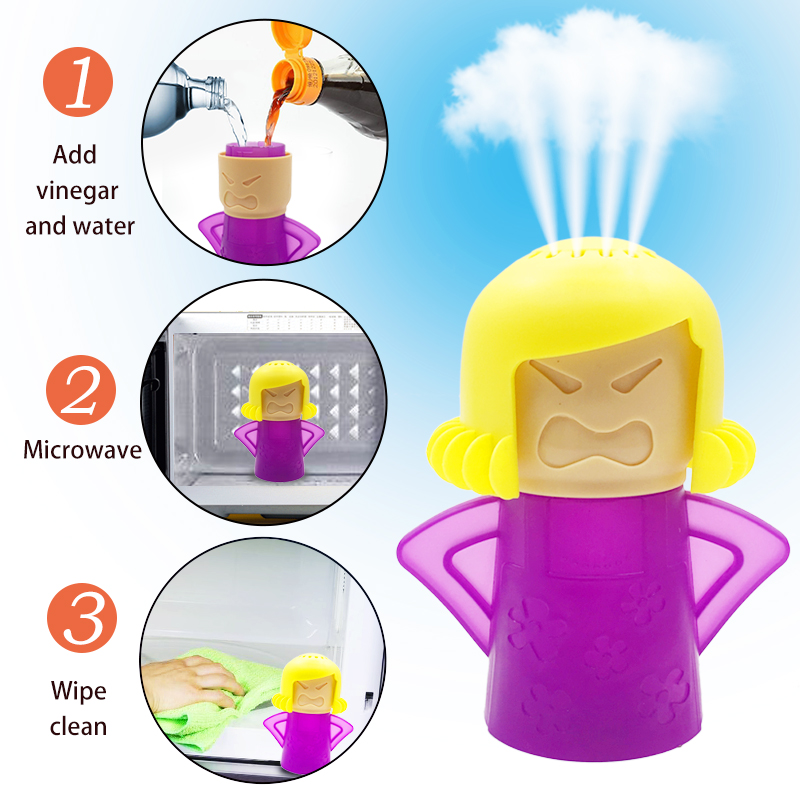 Angry Mama Microwave Cleaner Easily Cleans Microwave Oven Steam Cleaner Appliances For The Kitchen Refrigerator Cleaning(China)