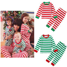 High Quality Cotton Girls Boys Christmas Clothing 2pcs Children Suit Kids Clothes Pjs Pajamas Sets Sleepwear Night Homewear Girl