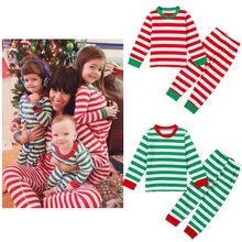 High Quality Cotton Girls Boys Christmas Clothing 2pcs Children Suit Kids Clothes Pjs Pajamas Sets Sleepwear Night Homewear Girl