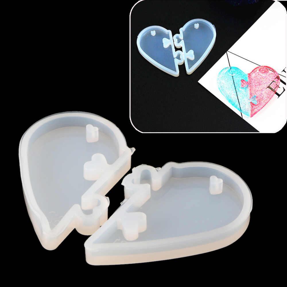 JAVRICK Love замки для кулон любовники силиконовая форма DIY эпоксидная полимерная форма ювелирные инструменты