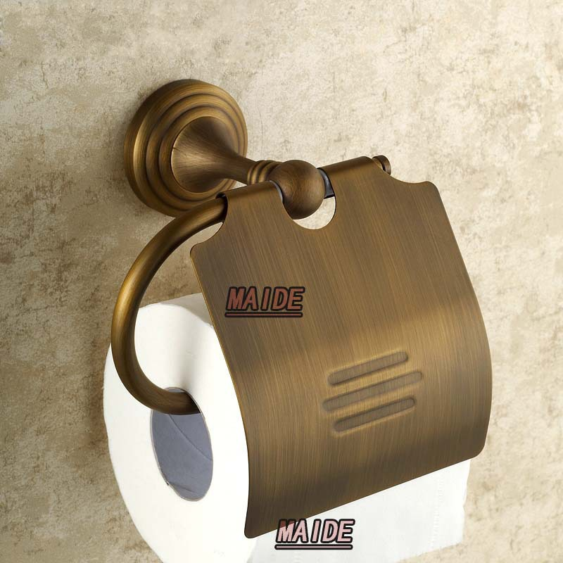 Unique style European Copper antique toilet paper holder tissue box bathroom accessories black of toilet paper all copper toilet tissue box antique toilet paper basket american top hand cartons
