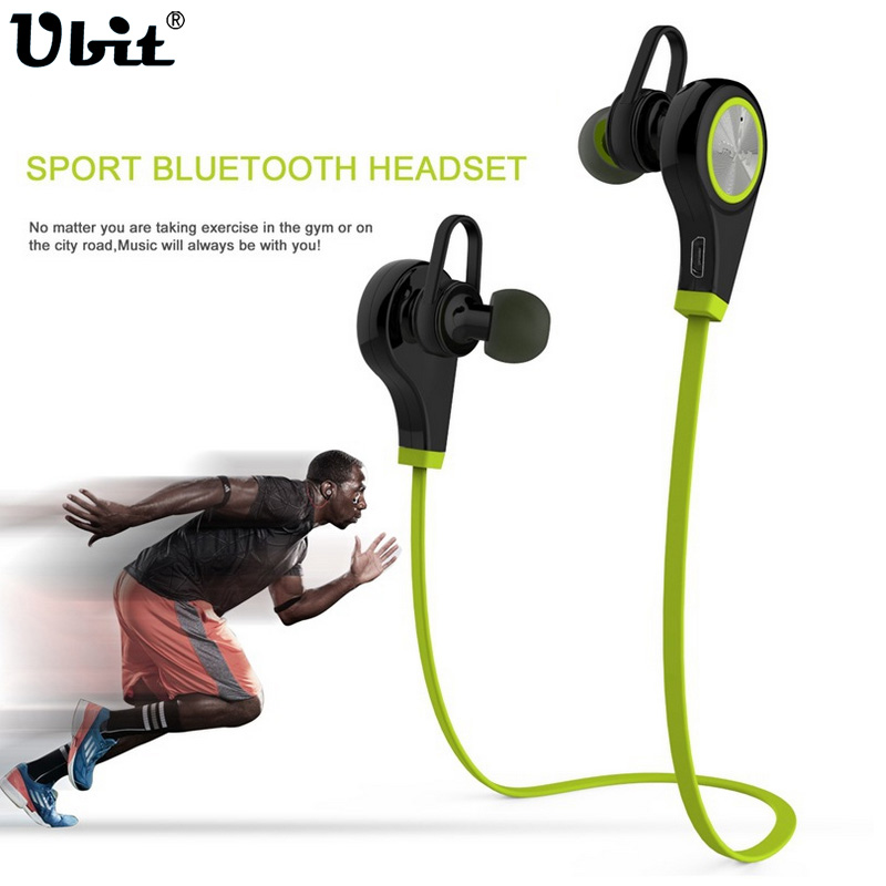 Ubit Q9 APT-X Sports Wireless Bluetooth Earphone Stereo Earbuds Headset Earphones with Mic In-Ear for iPhone 7 6  SmartPhone sports bluetooth earphone 4 1 stereo earbuds wireless headset bass earphones with mic in ear for iphone 7 samsung xiaomi