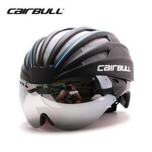CAIRBULL Cycling Helmet EPS TT Goggles Bike Helmet With Lens 55-61CM 28 Air Vents Integrally Molded Bicycle Helmet For Men Women