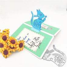 ZhuoAng Cat greeting card Cutting mold DIY scrapbook album decoration supplies clear seal paper
