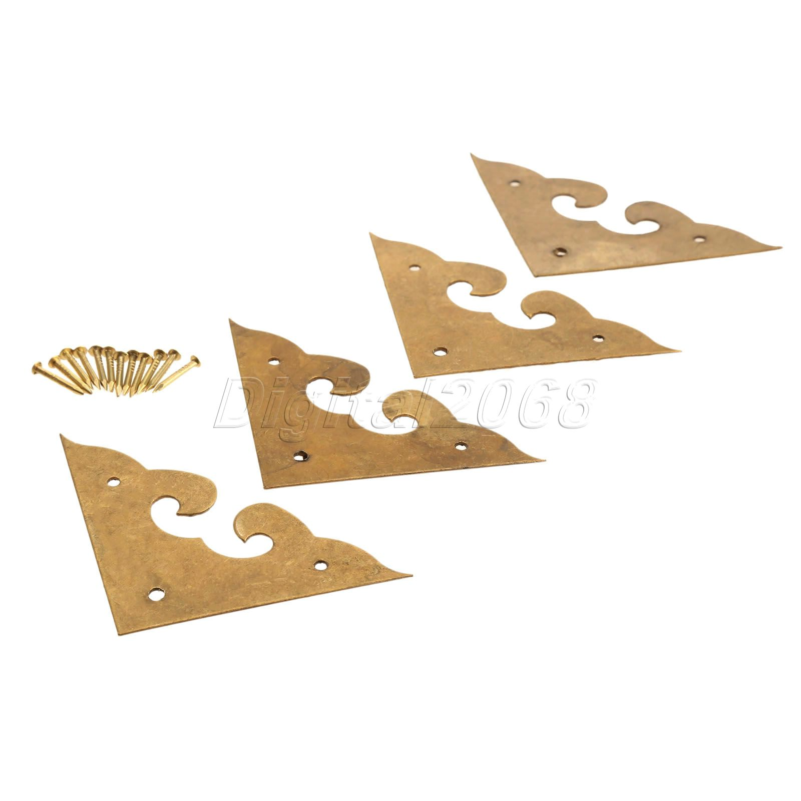 Furniture Elephant Trunk Design Corner Angle Brackets 4 Pcs
