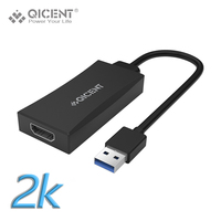 Qicent USB 3 0 To HDMI Adapter Male To Female Multi Monitor External Video Card Adapter