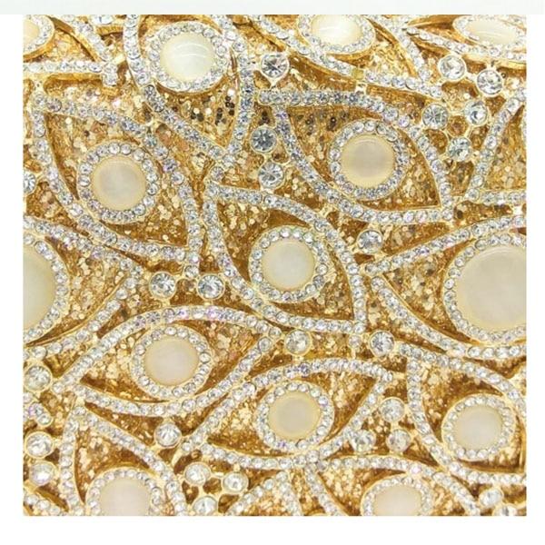 Mariage Gold Cristal Robe Soirée À Femmes De Nouveau Luxe Strass Et Main Sac Parti Diamants 1 Dîner Plein Mariée Dames Sacs FH6qUwx