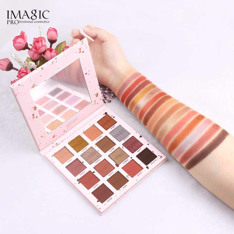 Glitter Matte Shimmer Eyeshadow Palet Imagic 16 Warna Palet Makeup Eyeshadow Palet Make Up Set Kecantikan Riasan Alat