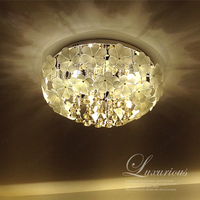 T Luxury Modern Crystal Ceilling Light High Quality Lamps For Living Room Hotel Corridor Aisle Hall LED Bulbs included