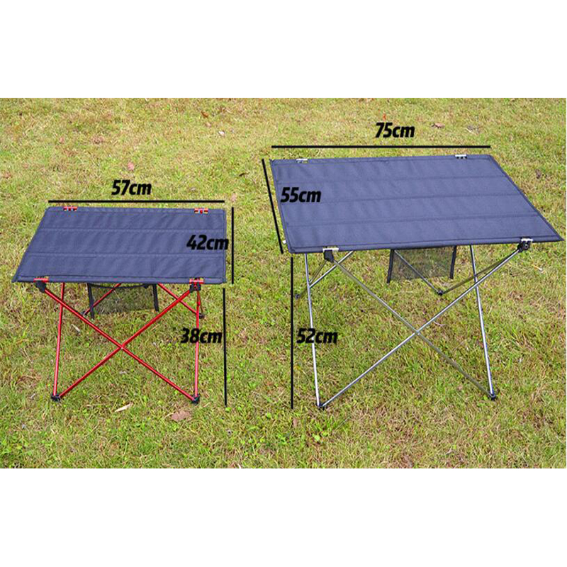 SUFEILE Aluminum Alloy Oxford Table Outdoor Portable Folding Table Small  Camping Picnic Table Outdoor Casual Barbecue D20 In Outdoor Tables From  Furniture ...