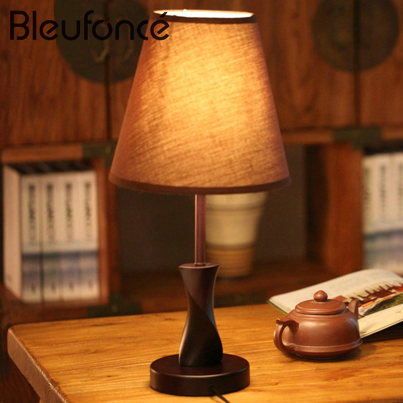 Simple Modern Table lamp Wooden Creative Bedside Light Bedroom Desk Lamps Bedside Wedding Living Room Decorative Lamps BL215 fumat stained glass table lamp high quality goddess lamp art collect creative home docor table lamp living room light fixtures
