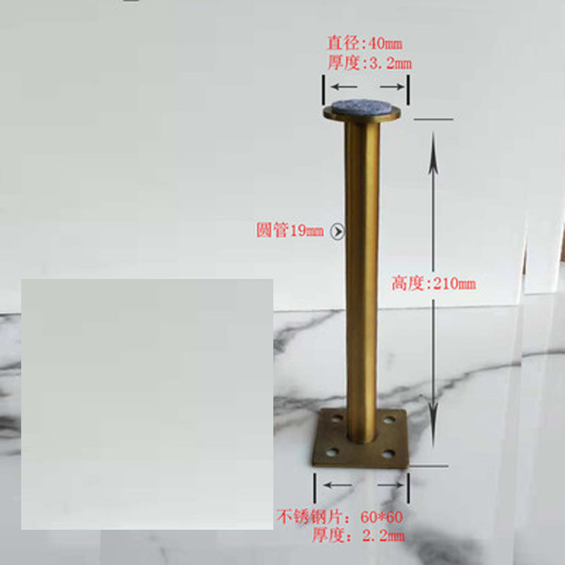 Image 3 - 4Pcs 60*160mm 60*210mm Gold bronze Furniture Cabinet Cupboard Adjustable Metal Legs Table feet   Verified Lab Test Supports-in Furniture Legs from Furniture