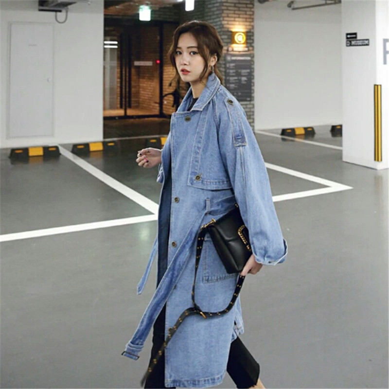 2018 Autumn Denim   Jacket   Long Sleeve Coats Womens Jeans   Jacket   Vintage Single Breasted   Basic     Jackets