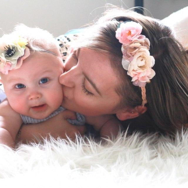 Rose Couronne De Fleurs Bandeau Fleur Maman Et Bebe Ensemble Filles
