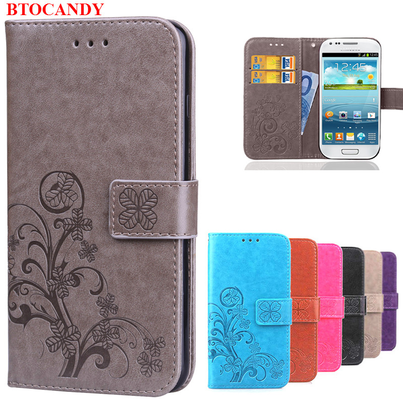 S3 Mini i8190 Flip Case S3 i9300 Wallet Leather Cover for Coque Samsung Galaxy S3 Mini / S 3 Neo / Duos Luxury Silicon Phone Case